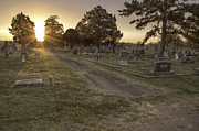 Headstones Prints - The Path to Light Print by Jason Politte