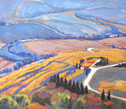 Italian Landscapes Paintings - The Pathways Between by Gina Grundemann