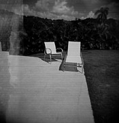 Medium Format Prints - The Patio Chairs Print by Mauricio Jimenez