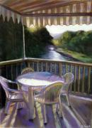 Southern Pastels - The Patio by George Grace