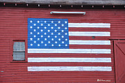 Barn Digital Art Posters - The Patriot Poster by Bill Cannon