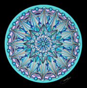 Mandalas Pastels Posters - The Peace Within Poster by Marcia Lupo