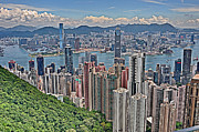 Building Photos - The Peak in Hong Kong by Joe  Ng