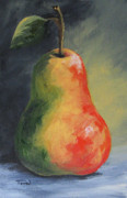 Red Pear Framed Prints - The Pear Chronicles 005 Framed Print by Torrie Smiley