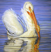 Pelican Painting Originals - The Pearl of Florida by Deb LaFogg-Docherty