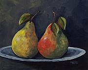 Pear Tree Painting Metal Prints - The Pears  Metal Print by Torrie Smiley