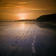 The Pembrokeshire Sunset Print by Angel  Tarantella