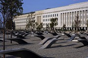Al-qaeda Framed Prints - The Pentagon Memorial Honoring The 184 Framed Print by Everett