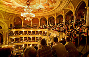 Gilt Framed Prints - The People at the Budapest Opera House Framed Print by Madeline Ellis