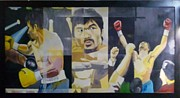 Pacman Painting Prints - The Peoples Champ Print by Lander Blanza