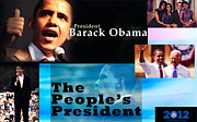 Sasha-obama Framed Prints - The Peoples President Framed Print by Terry Wallace
