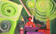 Night Scenes Painting Originals - The Percussionist  by Patricia Arroyo