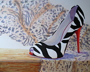 Shoe Painting Prints - The Perfect Fit Print by Mohamed Hirji