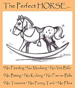 Feeding Drawings Posters - the Perfect Horse Poster by George Pedro