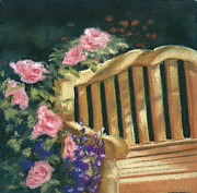 Garden Pastels Originals - The Perfect Place by Bernadette Kazmarski