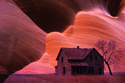 Abandoned Houses Prints - The Perfect Storm Print by Bob Christopher