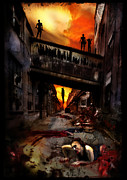 Zombies Framed Prints - The Perimeter Guard Framed Print by Mandem