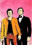 Cult Drawings Framed Prints - The Persuaders Framed Print by Giuseppe Cristiano