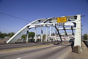 Selma Posters - The Pettus Bridge In Selma Alabama Poster by Everett