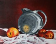 Orchards Painting Prints - The Pewter Jug Print by Cynthia House