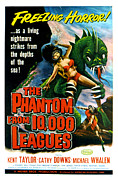 1956 Movies Posters - The Phantom From 10,000 Leagues, Poster Poster by Everett