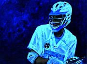 Lacrosse Paintings - The Phantom by Kenneth DelGatto