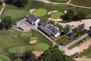 Aerial Photo - The Philadelphia Cricket Club Wissahickon Clubhouse by Duncan Pearson