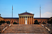 The Philadelphia Museum Of Art Front View Print by Bill Cannon
