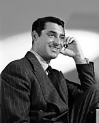 Pinstripe Suit Prints - The Philadelphia Story, Cary Grant, 1940 Print by Everett