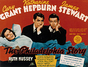 Films By George Cukor Prints - The Philadelphia Story, Katharine Print by Everett