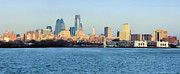Philadelphia Digital Art Prints - The Philadelphia Waterfront from Camden Print by Bill Cannon