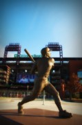 Citizens Bank Park Philadelphia Framed Prints - The Phillies - Mike Schmidt Framed Print by Bill Cannon