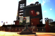 Left Field Prints - The Phillies - Steve Carlton Print by Bill Cannon