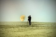 Moon Beach Posters - The Photographer Poster by Bill Cannon