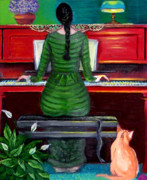 Music Paintings - The Pianist by Susan Stewart