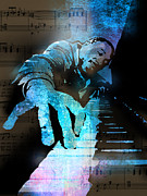 Pianist Posters - The Piano Man Poster by Paul Sachtleben