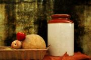 Peaches Photo Originals - The Pickle Jar and an Old Wall by Sheharyar Pervez