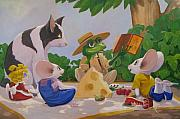 Rip Squeak Paintings - The Picnic by Leonard Filgate