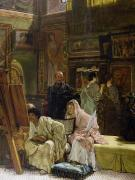 Galleries Posters - The Picture Gallery Poster by Sir Lawrence Alma-Tadema