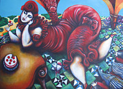 Voluptuous Painting Prints - THE PIE by nuria fortuny Print by Nuria Fortuny