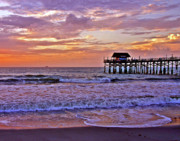 Sunset Seascape Framed Prints - The Pier Framed Print by Scott Mahon