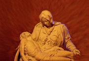 Crucifixion Photos - The Pieta at Ste Anne De Beaupre by Al Bourassa