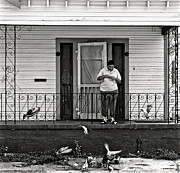 Kathleen K Parker - The Pigeon Lady - black and white
