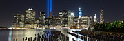 New York City Skyline Art - The Pilings Pano by Shane Psaltis