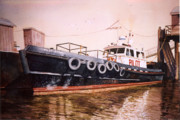 Pilot Prints - The Pilot Boat Print by Marguerite Chadwick-Juner