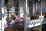 The Pink Bicycle Tea Room Print by Jane Brack