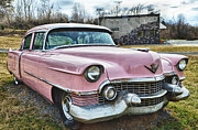 Pink Cadillac Prints - The Pink Cadillac II Print by Kathy Jennings