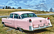 Diner Photos Posters - The Pink Cadillac III Poster by Kathy Jennings