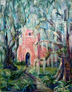 Doralynn Lowe Prints - The Pink Chapel Print by Doralynn Lowe