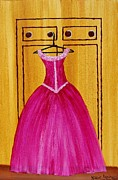Ball Gown Framed Prints - The Pink Dress 4535 Framed Print by Jessie Meier